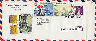 KOREA 1970 printed matter covers stamped air mail to SWITZERLAND