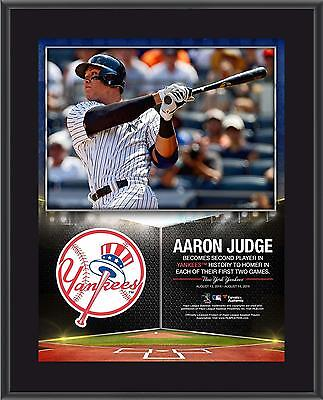 Aaron Judge NY Yankees 10.5x13 Second Yankee to Hit HRs in First 2 Games Plaque