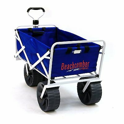FOLDABLE BEACH COMBER WAGON Extra Wide Wheels Camping Sports Festivals Gardens
