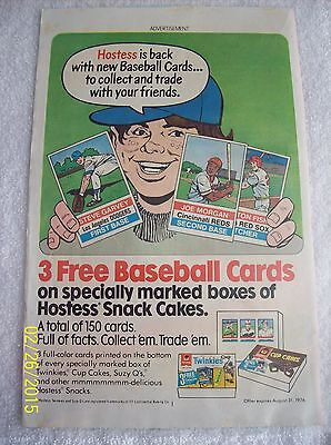 Vintage 1976 Comic Advertisement For Hostess Snack Cakes