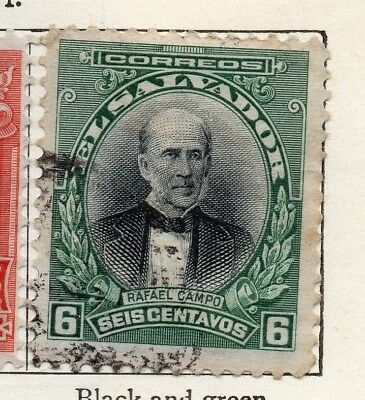 El Salvador 1912 Early Issue Fine Used 6c. 120585