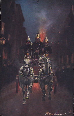 Horse drawn Fire Wagon , To the Rescue! , 00-10s TUCK #6459