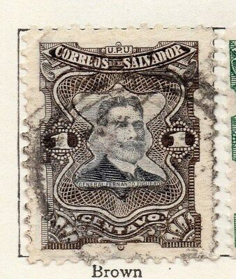 El Salvador 1910 Early Issue Fine Used 1c. 120612