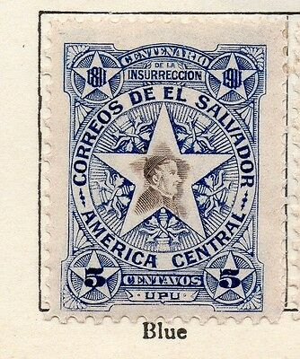 El Salvador 1911 Early Issue Fine Mint Hinged 5c. 120622