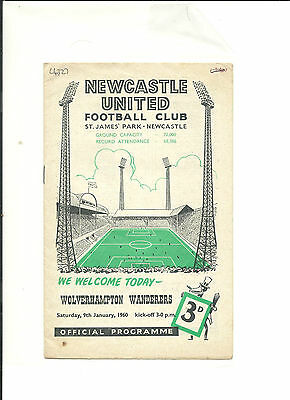 1959/60 FA Cup 3rd round  Newcastle United v Wolverhampton Wanderers