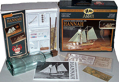 Amati Hannah Wood Model Ship in a Bottle Kit
