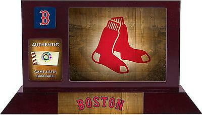 Boston Red Sox Framed Team Logo Desktop Display with Game Ball Piece