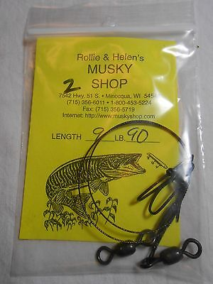 2 - 9 Inch 90 Lb Leaders Use For Musky, Northern, Other