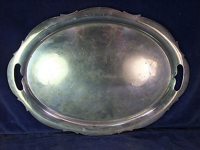 Vintage John Sherwood Silver Plate Serving Tray - Early 20th C [9799]