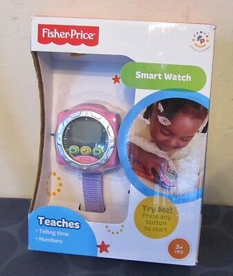 Fisher Price Smart Watch NEW IN BOX Teaches kids how to Tell time & numbers