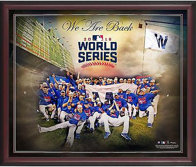 Chicago Cubs Framed 2016 National League Champs 20x24 World Series Bound Collage