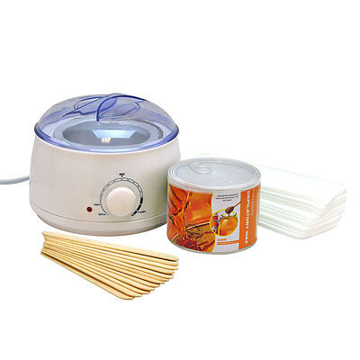 Wax Can Warmer Depilatory KIT Spa Hair Removal Waxing Paper Strips Salon Heater