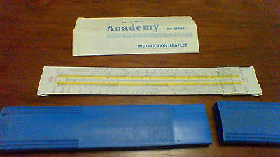 Slide Rule - Blunndell Accademy 800 series  with hard case