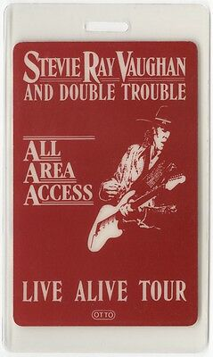 Stevie Ray Vaughan authentic 1986-1987 concert tour Laminated Backstage Pass