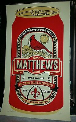 Dave Matthews Band poster St Louis Beer Can 2015.  Methane Studios Must See