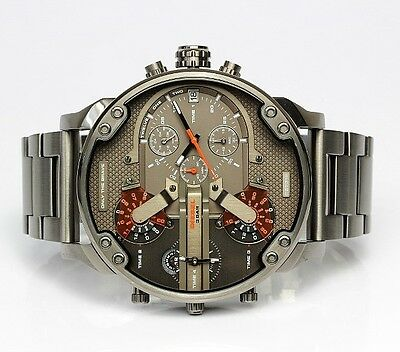DlESEL DZ7315 MR DADDY 2.0 MENS STAINLESS STEEL CHRONOGRAPH WATCH(no box)