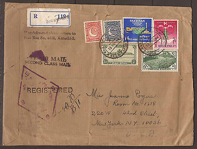 Pakistan. 1968. Second Class Registered Air Mail Cover.