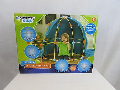 Discovery Kids 69-Piece Flexible Construction Fort With Custom Connectors