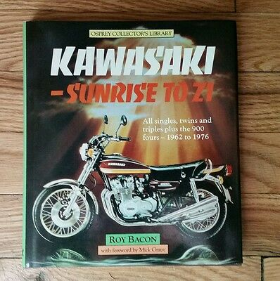 Kawasaki Sunrise to Z1 1962-76 Roy Bacon Hardcover Motorcycle Book 1984