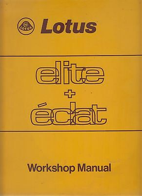 Lotus Elite T75 T83 & Eclat T76 T84 1974-82 Original Factory Repair Manual *vgc*