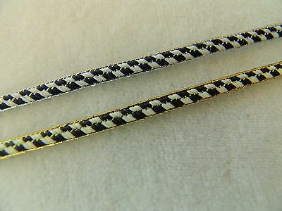 """12 YARDS of Darling 1/8"""" Wide DOLL Trim ~ Choice of Metallic Gold or Silver Edge"""