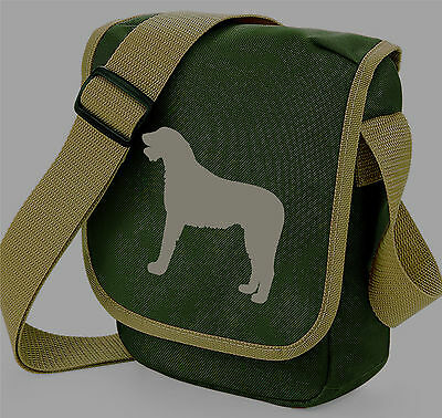 Irish Wolfhound Hound Dog Silhouette Messenger Bag Shoulder Bags Xmas Gift