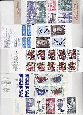 SWEDEN SVERIGE STAMPS BOOKLET SELECTION No 41 FROM COLLECTION INCL SLANIA