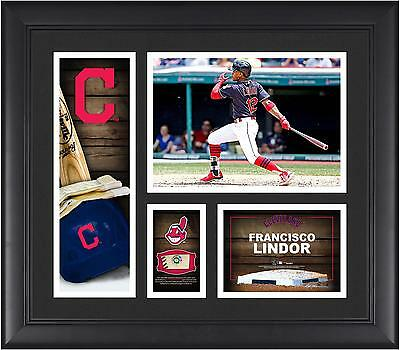 Francisco Lindor Cleveland Indian Framed 15x17 Collage & Piece of Game-Used Ball