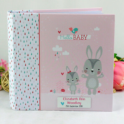 Baby Girl Photo Album - Personalised Gift - Add a Name & Message
