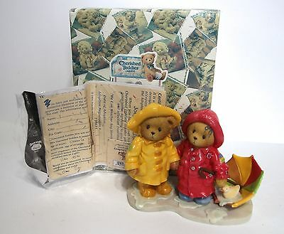 """Cherished Teddies """"We Can Weather Any Storm Together"""" Joey & Lindsey #726621 NIB"""