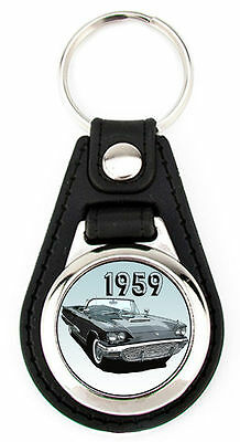 Ford 1959 Thunderbird - Richard Browne T-Bird Art  Key Fob -