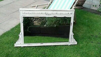 Early 1900s Edwardian mirror original glass hardwood frame restored