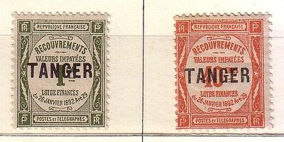 French Morocco: Rare 1918 Scott N° J42-J45 hinged, various conditions FM09