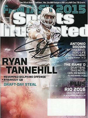 Ryan Tannehill Miami Dolphins Signed August 17 2015 Sports Illustrated Magazine