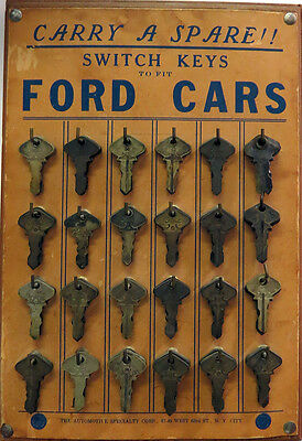 Lot of 74 Antique Ford Model T and E  Switch Keys Master Keys + 4 key Fob