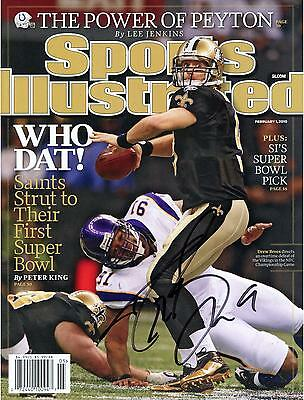 Drew Brees New Orleans Saints Signed 02/1/10 Sports Illustrated Magazine