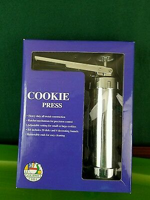 Le Gourmet Chef Cookie Press new in box