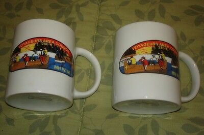 2 Vintage Voyageurs Area Council 286 BSA Scoutmaster/Adult Leader Coffee Mugs