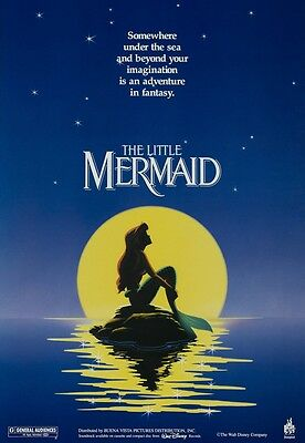 Walt Disney's The Little Mermaid movie poster (b) : 11 x 17 inches