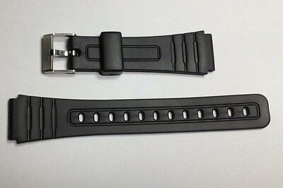 REPLACEMENT RUBBER STRAP FOR CASIO F91 18mm