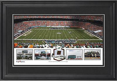 Sun Life Stadium Miami Dolphins Framed Panoramic Collage with Item#3352862