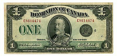 Canada ... P-33o ... 1 Dollar ... 1923 ... *F++* ... Group 4E