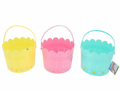 12 easter fence bucket with printing 3 colours bulk wholesale lot