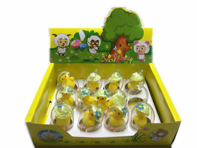 12 easter chick 7cm in bubble with hat bulk wholesale lot