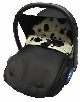 Fit Animal Print Padded Car Seat Footmuff / Cosy Toes/Cosy Toes Cow