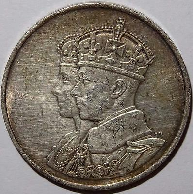 CANADA GEORGE VI ROYAL VISIT 1939 OFFICIAL MEDALLION silver 33mm