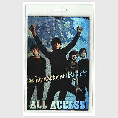 All American Rejects authentic * concert tour Laminated Backstage Pass