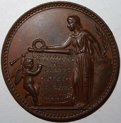 CHANNEL ISLANDS GREAT INDUSTRIAL EXHIBITION PRIZE MEDAL copper 44mm