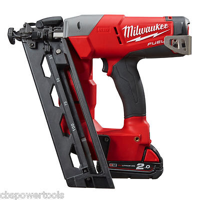 Milwaukee M18 CN16GA-202X 18V Fuel 16 Gauge Angle Nailer Kit M18CN16GA-202X
