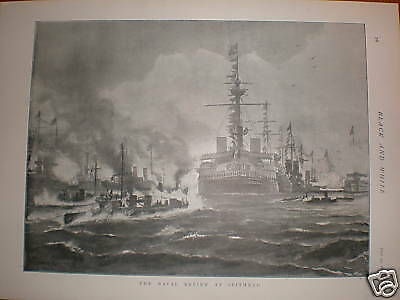 UK Naval Review Spithead Fred T Jane print 1895
